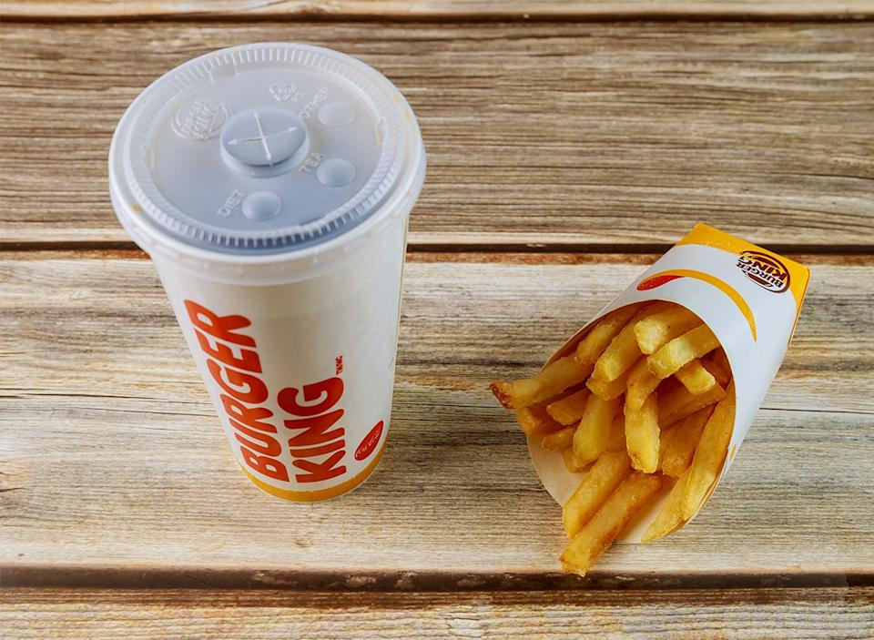 burger king soda and fries