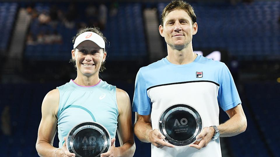 Sam Stosur and Matt Ebden, pictured here after the mixed doubles final at the Australian Open.
