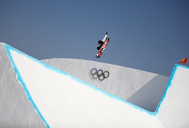 <p>PYEONGCHANG-GUN, SOUTH KOREA – FEBRUARY 08: Hiroaki Kunitake of Japan in action during Slopestyle training ahead of the PyeongChang 2018 Winter Olympic Games. (Getty Images) </p>
