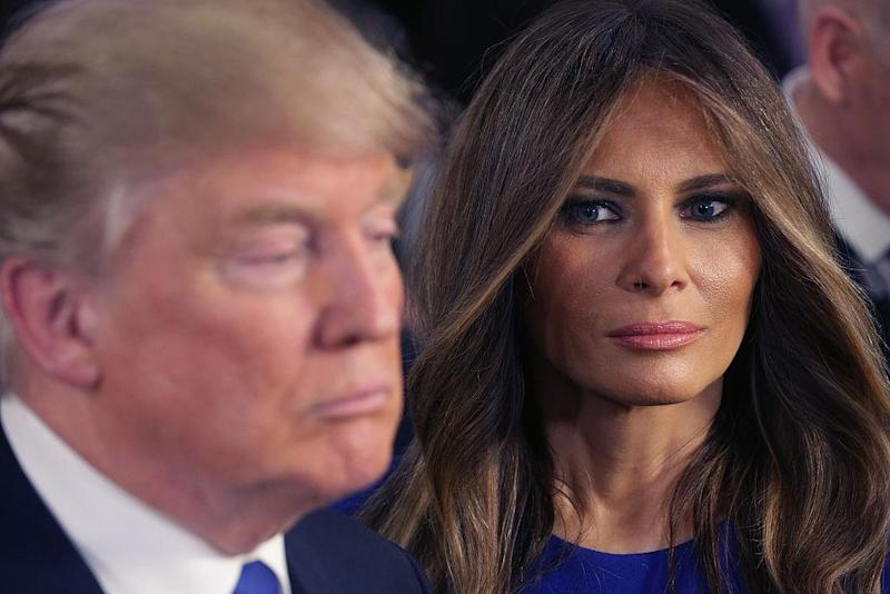 The First Lady is currently living separately from the US President: Getty Images