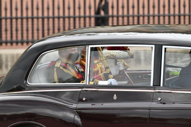 The Great Sword of State, and the Cap of Maintenance is taken from Buckingham Palace to Westminster