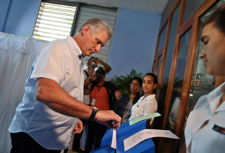 If Miguel Diaz-Canel -- shown here voting on Sunday -- becomes Cuba's new president, he will need to work on implementing needed economic reforms