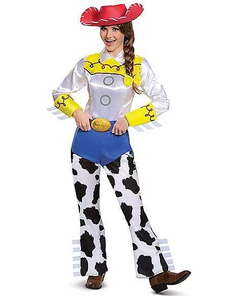 """<p>Giddy-up! This <a href=""""https://www.spirithalloween.com/product/halloween-costumes/womens-costumes/view-all-womens-costumes/adult-jessie-costume-deluxe-toy-story-4/pc/4742/c/1326/sc/4254/176983.uts?currentIndex=48"""" target=""""_blank"""" class=""""ga-track"""" data-ga-category=""""Related"""" data-ga-label=""""https://www.spirithalloween.com/product/halloween-costumes/womens-costumes/view-all-womens-costumes/adult-jessie-costume-deluxe-toy-story-4/pc/4742/c/1326/sc/4254/176983.uts?currentIndex=48"""" data-ga-action=""""In-Line Links"""">Adult Jessie Costume Deluxe From <strong>Toy Story 4</strong></a> ($50) is too fun.</p>"""