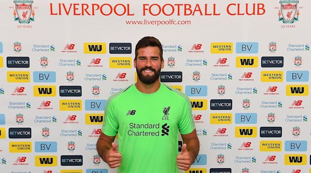 Liverpool completed its signing of goalkeeper Alisson Becker on Thursday, the team announced.