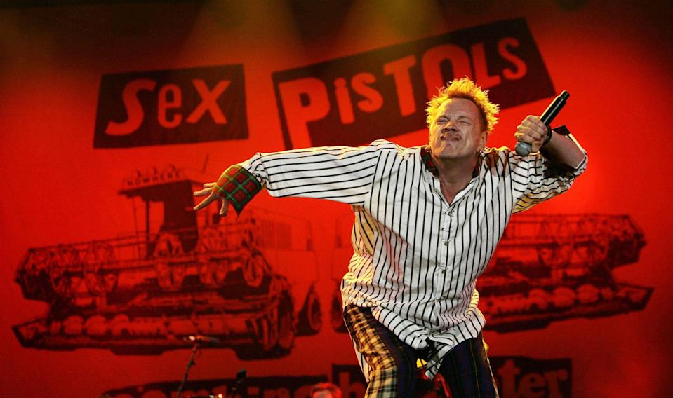 Johnny Rotten, who is defending legal action by two of his former Sex Pistols' bandmates over use of the band's songs in a television series (Yui Mok/PA) (PA Archive)