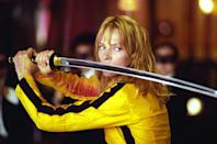 """<p><a class=""""link rapid-noclick-resp"""" href=""""https://go.redirectingat.com?id=74968X1596630&url=https%3A%2F%2Fwww.hulu.com%2Fmovie%2Fkill-bill-volume-1-91101089-b0d6-430e-b967-b18e81b416c0&sref=https%3A%2F%2Fwww.marieclaire.com%2Fculture%2Fg2509%2Fmovies-to-watch-before-30%2F"""" rel=""""nofollow noopener"""" target=""""_blank"""" data-ylk=""""slk:watch"""">watch</a></p><p>Uma Thurman kills (literally) as a former assassin who wakes up from a coma post-assassination attempt seeking revenge. She then sets off on a mission to get back at an ex-lover and friends who killed her husband-to-be and her unborn child on her wedding day four years ago. It's a kind of girl power you would only see in a Quentin Tarantino film. <a href=""""https://go.redirectingat.com?id=74968X1596630&url=https%3A%2F%2Fwww.hulu.com%2Fmovie%2Fkill-bill-volume-2-d79041c1-dd27-42d5-ac13-1fad14f8d5e8&sref=https%3A%2F%2Fwww.marieclaire.com%2Fculture%2Fg2509%2Fmovies-to-watch-before-30%2F"""" rel=""""nofollow noopener"""" target=""""_blank"""" data-ylk=""""slk:Volume 2"""" class=""""link rapid-noclick-resp"""">Volume 2</a> is also great, FYI, it's just a <em>very </em>different kind of film. </p>"""