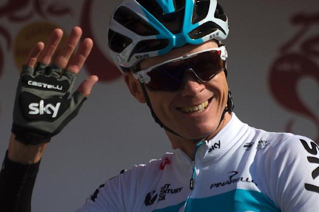 Chris Froome is the favourite to win the Giro d'Italia, which starts in Jerusalem on Friday (AFP Photo/JORGE GUERRERO)