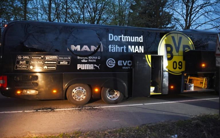 At around 7:15 pm (1715 GMT) on April 11, three explosions detonated just minutes after Dortmund's team bus left the squad's hotel heading for their quarter-final first leg against Monaco