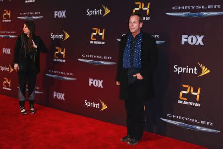 Cast member Kiefer Sutherland arrives for the world premiere of the Fox series 24: Live Another Day in New York