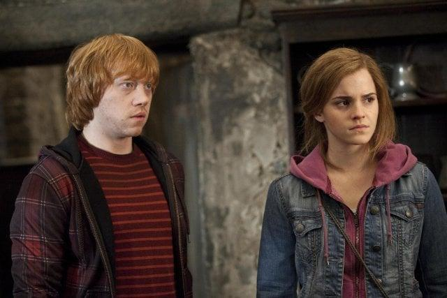 <p><strong>For Hermione:</strong> Go for a casual, tomboy-inspired look with jeans, a hooded sweatshirt, a quick ponytail, and - of course - a wand.</p> <p><strong>For Ron:</strong> Everyday clothes are fine, but the red hair is a must have, so invest in a short wig.</p>