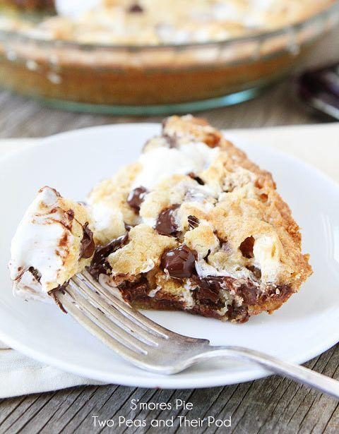 """<strong>Get the<a href=""""http://www.twopeasandtheirpod.com/smores-pie/"""" target=""""_blank"""" data-beacon-parsed=""""true"""">S'mores Pie recipe</a>from Two Peas & Their Pod</strong>"""