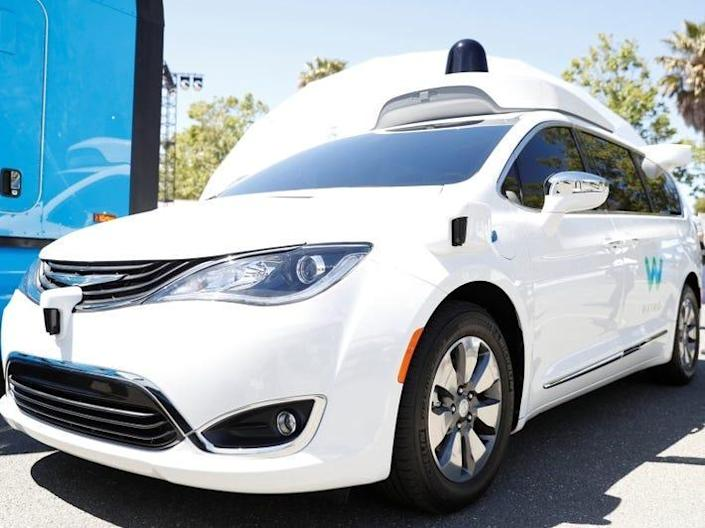 A Waymo self-driving car is seen during the annual Google I/O developers conference in Mountain View, California, May 8, 2018. REUTERS/ Stephen Lam