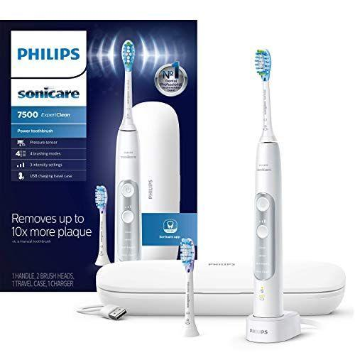 """<p><strong>Philips Sonicare</strong></p><p>amazon.com</p><p><strong>$149.00</strong></p><p><a href=""""https://www.amazon.com/dp/B07TBGP29C?tag=syn-yahoo-20&ascsubtag=%5Bartid%7C2139.g.37612148%5Bsrc%7Cyahoo-us"""" rel=""""nofollow noopener"""" target=""""_blank"""" data-ylk=""""slk:BUY IT HERE"""" class=""""link rapid-noclick-resp"""">BUY IT HERE</a></p><p>Your dental-devoted pal will love the cleaning power of the Philips Sonicare ExpertClean 7500. Every brush feels like you just left the dentist.</p>"""