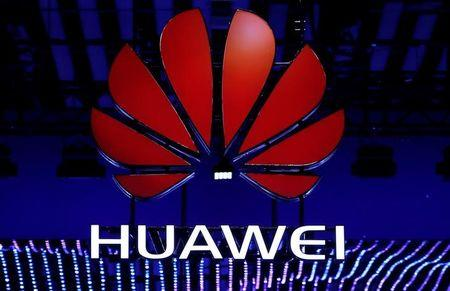 The Huawei logo is seen during the Mobile World Congress in Barcelona, Spain, February 26, 2018. REUTERS/Yves Herman