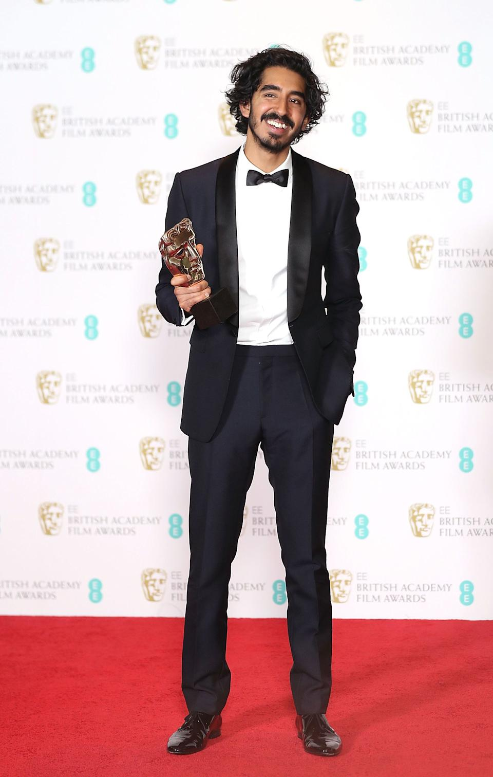 Patel at the 70th EE British Academy Film Awards at Royal Albert Hall in London on Feb. 12, 2017.