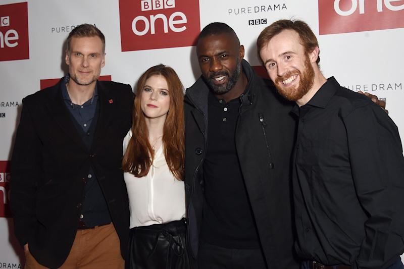 Idris Elba with some of his Luther cast mates (Getty Images)