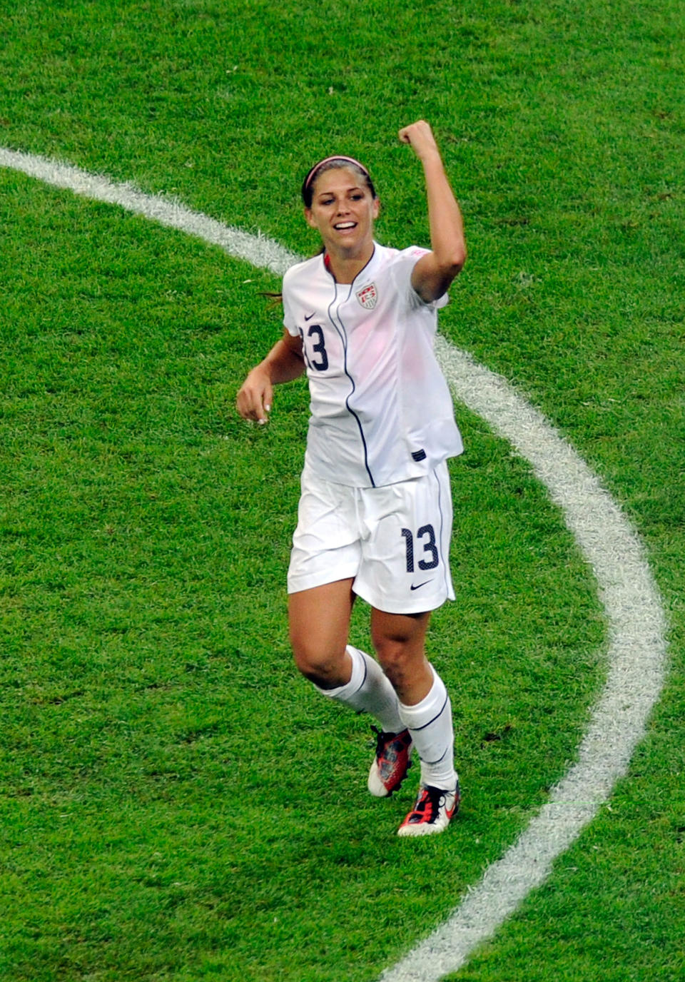 """2. Alex Morgan's teammates nicknamed the 23-year-old star """"Baby Horse,"""" which refers to Morgan's young age and galloping footwork on the field. (Getty Images)"""
