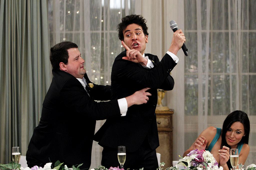 """The Best Man"" -- Punchy (Chris Romanski) tries to save Ted (Josh Radnor) from making a classic Mosby wedding toast, on the seventh season premiere of HOW I MET YOUR MOTHER, Monday, Sept. 19 (8:00-8:30 PM, ET/PT) on the CBS Television Network.  Photo: Cliff Lipson/CBS ©2011 CBS Broadcasting Inc. All Rights Reserved. How I Met Your Mother"