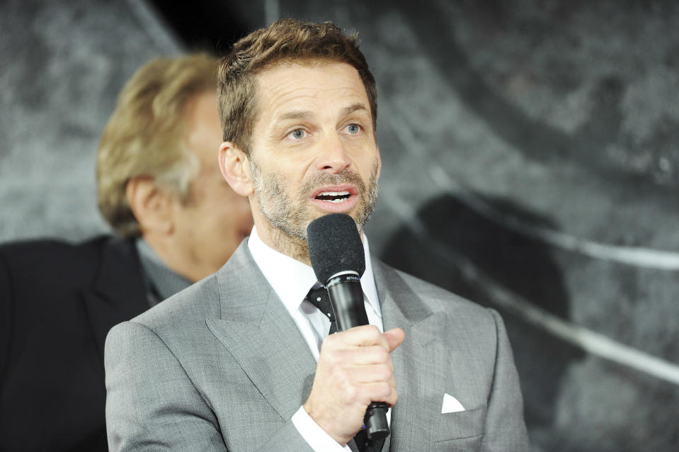 "Zack Snyder attends the European premiere of ""Batman V Superman: Dawn Of Justice"" on March 22, 2016. (Photo by Dave J Hogan/Getty Images)"