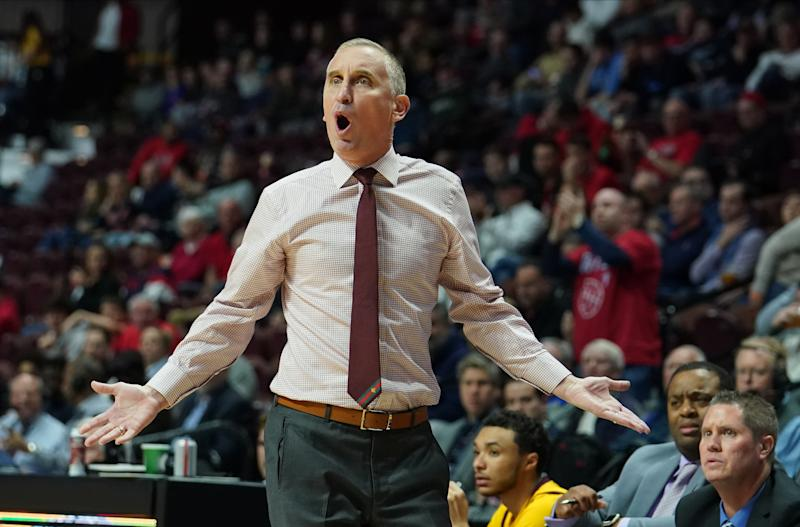 Arizona State coach Bobby Hurley watches from the sideline during a game against the St. John's Red Storm in 2019. (USA TODAY Sports)