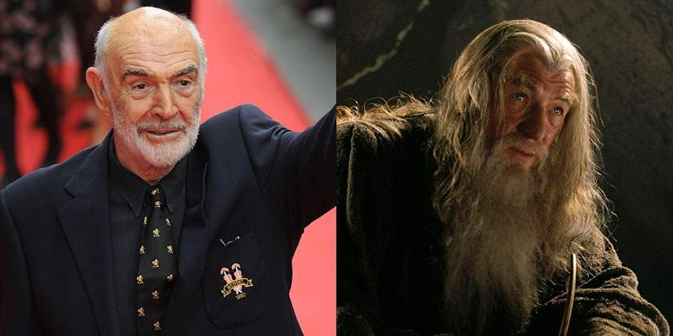 """<p>There is a world where Sir Ian McKellen doesn't play Gandalf in <em>The</em> <em>Lord of the Rings</em> and we're really just not okay with that. Apparently the role was supposed to go to Sean Connery. This may be one franchise Connery regrets not being a part of, as the films made over $2.91 billion <a href=""""https://www.forbes.com/sites/dorothypomerantz/2012/12/13/can-the-hobbit-make-lord-of-the-rings-the-top-franchise-ever/#6d85186b1283"""" rel=""""nofollow noopener"""" target=""""_blank"""" data-ylk=""""slk:in total box office sales"""" class=""""link rapid-noclick-resp"""">in total box office sales</a>.</p>"""