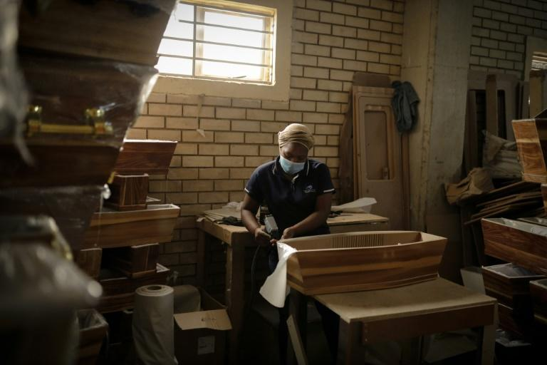 Coffins have been in high demand due to the rising deaths, with producers struggling to build fast enough