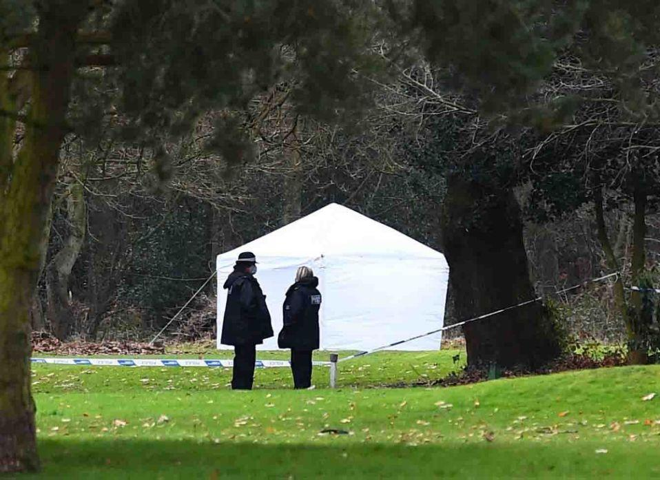 A forensic tent at Brackenwood Park and Golf Course. (Reach)