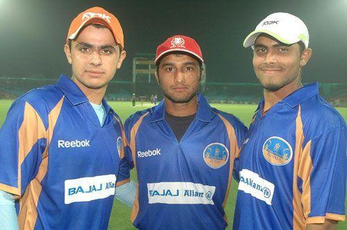 Ravindra Jadeja (extreme right) lead the scoring charts for RR in 2009