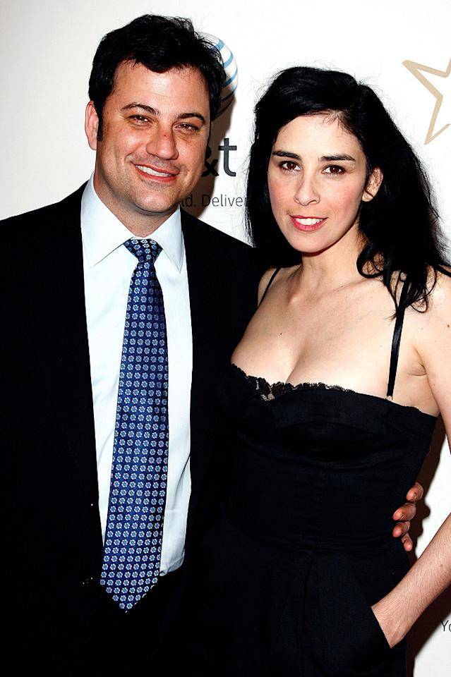 "Although Jimmy Kimmel and Sarah Silverman split in July after five years of dating, they have been spotted out and about making people wonder if they are together again. While we can only hope that they have reconciled, the funny couple refuses to define their current relationship. Jeff Vespa/<a href=""http://www.wireimage.com"" target=""new"">WireImage.com</a> - April 25, 2008"