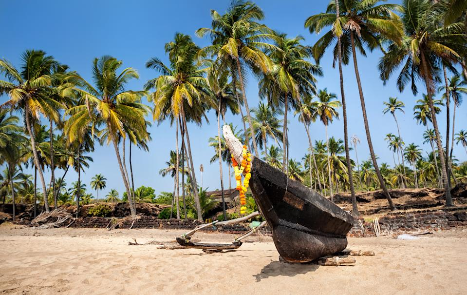 "South Goa is less touristy than its northern counterpart, but offers a more authentic experiences with the laidback setting of Agonda Beach, where you can experience vegan cafes, yoga classes and traditional spas. Stay at barefoot luxury hideout <a href=""https://www.i-escape.com/agonda-villas"" rel=""nofollow noopener"" target=""_blank"" data-ylk=""slk:Agonda Villas"" class=""link rapid-noclick-resp""><strong>Agonda Villas</strong></a> for £53 a night. <em>[Photo: Getty]</em>"