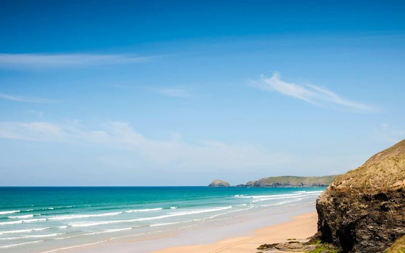Perranporth in Cornwall has been deemed the best to keep your distance - istock