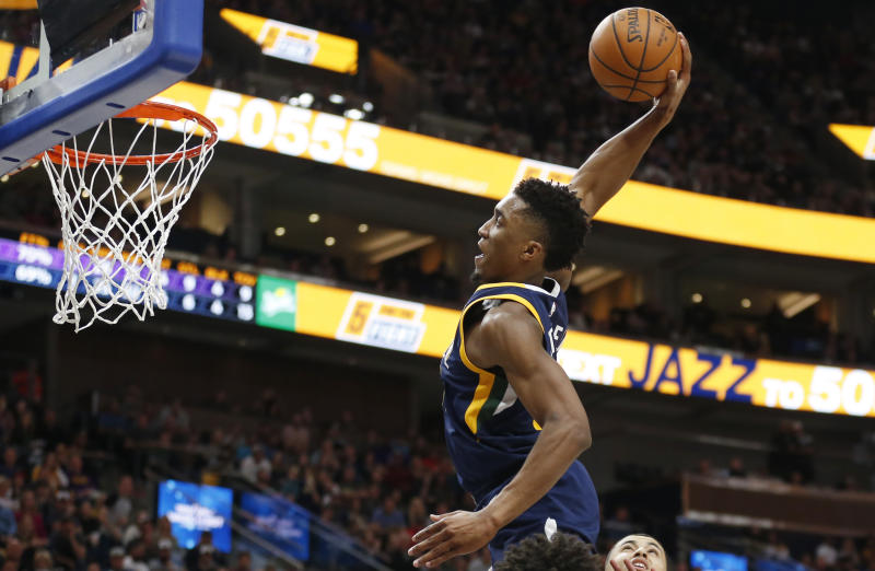 Image result for donovan mitchell dunk