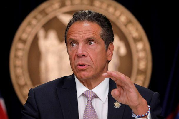 PHOTO: New York Governor Andrew Cuomo speaks during a daily briefing following the outbreak of the coronavirus disease (COVID-19) in  New York, July 13, 2020.  (Mike Segar/Reuters, FILE)