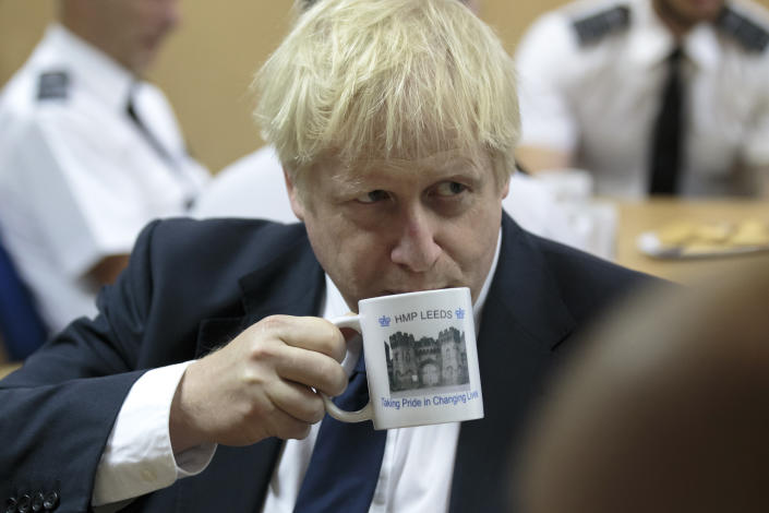 Britain's Prime Minister Boris Johnson is ramping up preparations for a no-deal Brexit. Photo: AP Photo/Jon Super