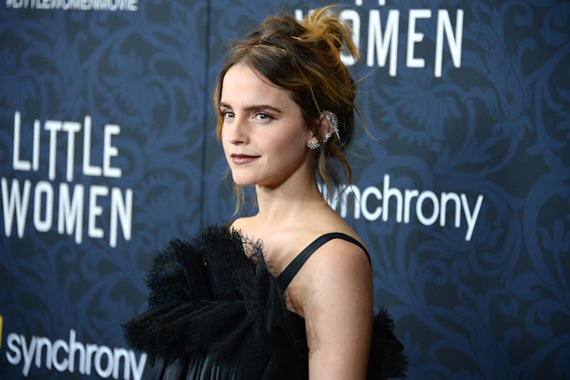 """NEW YORK, NEW YORK - DECEMBER 7: Emma Watson attends """"Little Women"""" World Premiere on December 7, 2019 at Museum of Modern Art in New York City. (Photo by Paul Bruinooge/Patrick McMullan via Getty Images)"""