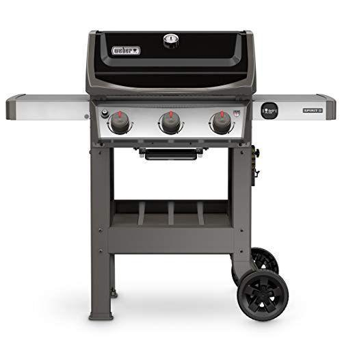 """<p><strong>Weber</strong></p><p>amazon.com</p><p><strong>$479.00</strong></p><p><a href=""""https://www.amazon.com/dp/B077JTCMKQ?tag=syn-yahoo-20&ascsubtag=%5Bartid%7C1782.g.36148334%5Bsrc%7Cyahoo-us"""" rel=""""nofollow noopener"""" target=""""_blank"""" data-ylk=""""slk:BUY NOW"""" class=""""link rapid-noclick-resp"""">BUY NOW</a></p><p>Propane grills are great for beginners since they make it easy to control the temperature by turning the knobs. This Weber one has three burners are a grease management system so you won't have to fuss with the clean up after you serve your food. </p>"""