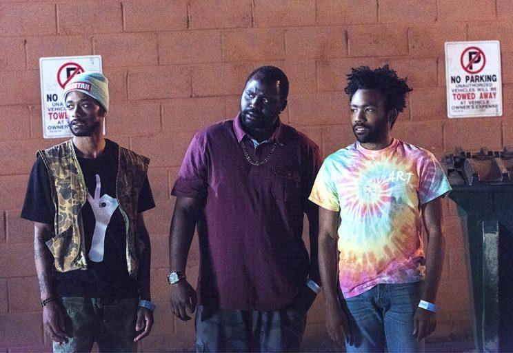 Lakeith Stanfield as Darius, Brian Tyree Henry as Alfred Miles, Donald Glover as Earnest Marks (Credit: Guy D'Alema/FX)