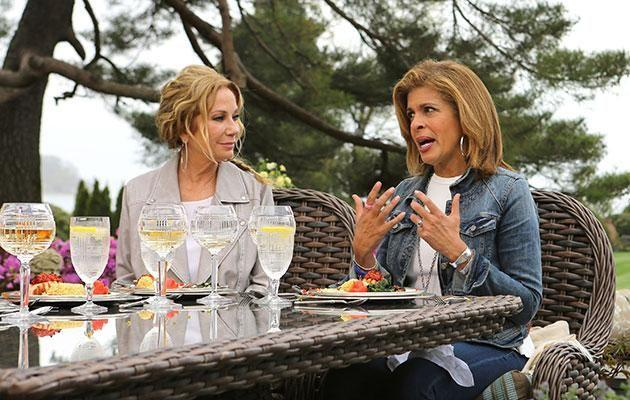 Kathie and Hoda on set of the US TODAY Show. Source: Getty