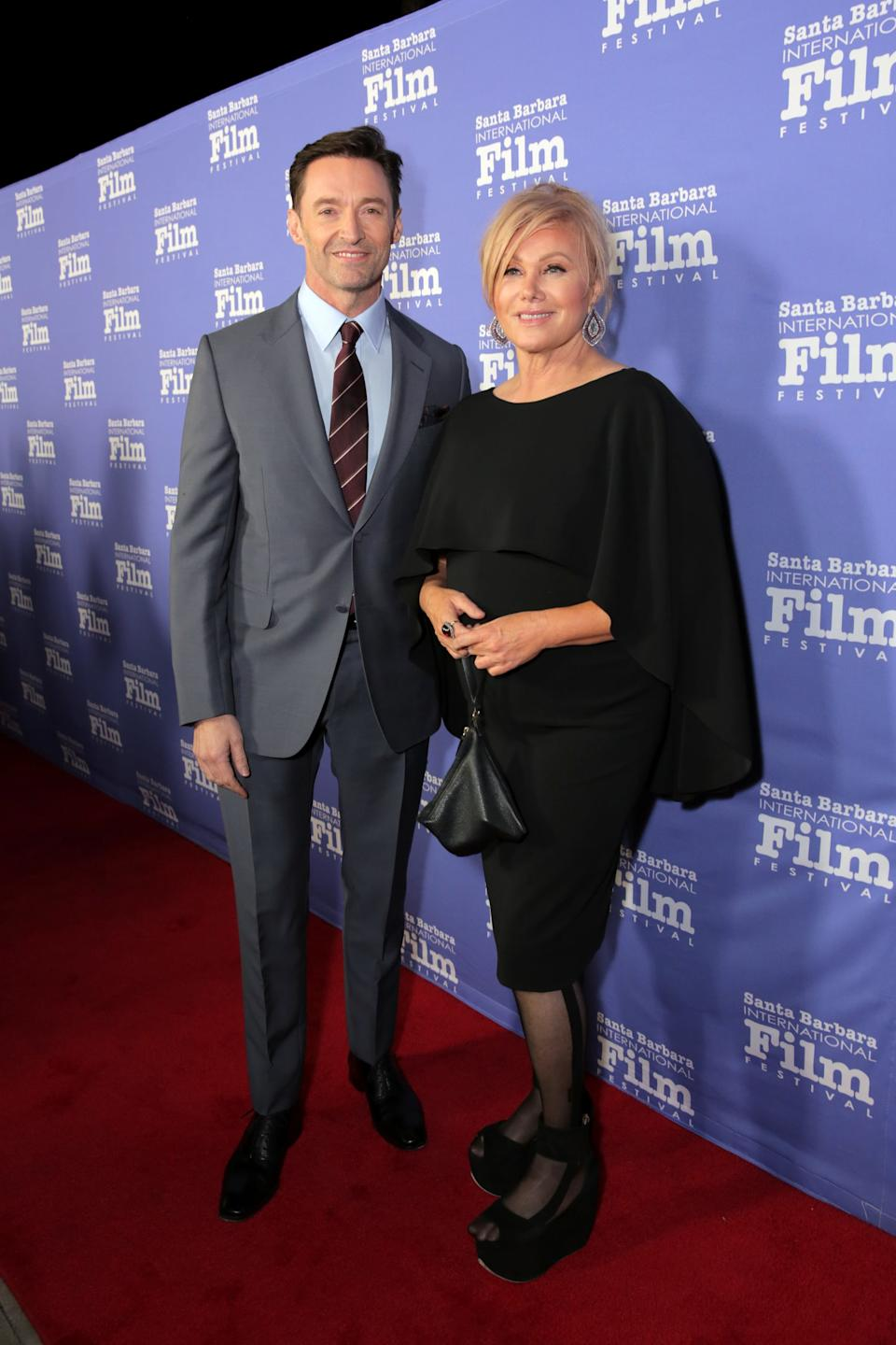GOLETA, CALIFORNIA - NOVEMBER 19: Hugh Jackman and Deborra-lee Furness attend Santa Barbara International Film Festival's Kirk Douglas Award Honoring Hugh Jackman at The Ritz-Carlton Bacara on November 19, 2018 in Goleta, California. (Photo by Rebecca Sapp/Getty Images for Santa Barbara International Film Festival)