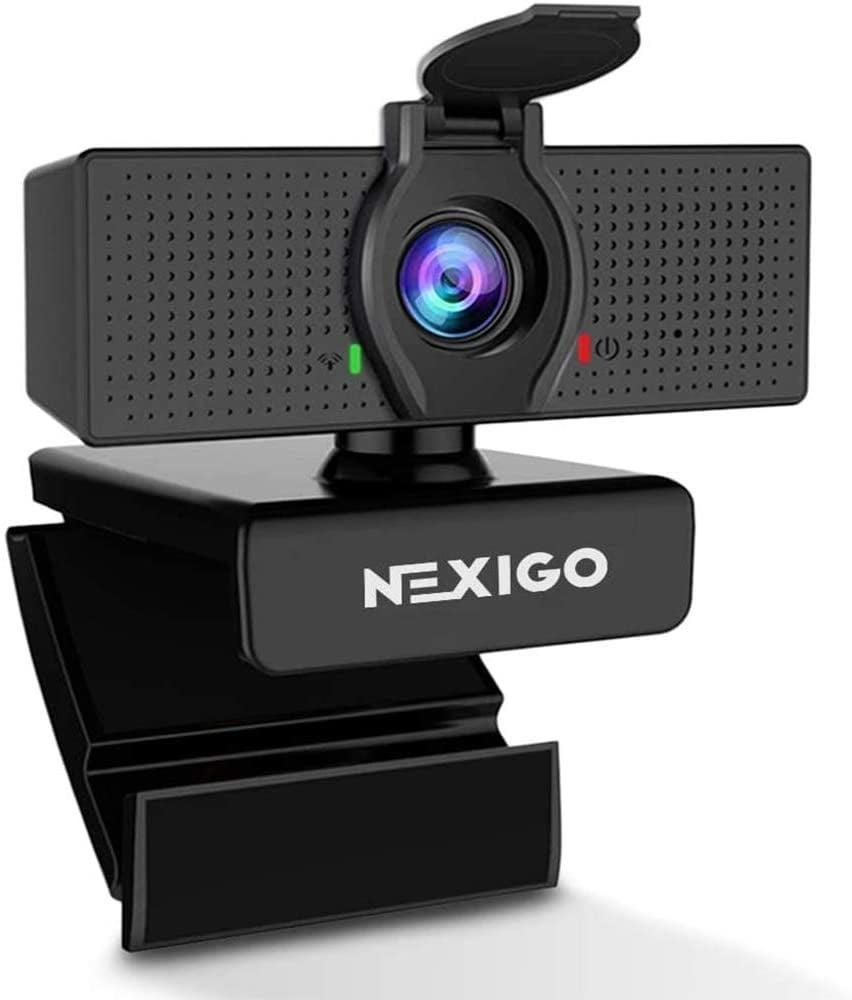 <p>If you want to step up your game, invest in this <span>1080P HD Webcam with Microphone &amp; Privacy Cover</span> ($40).</p>