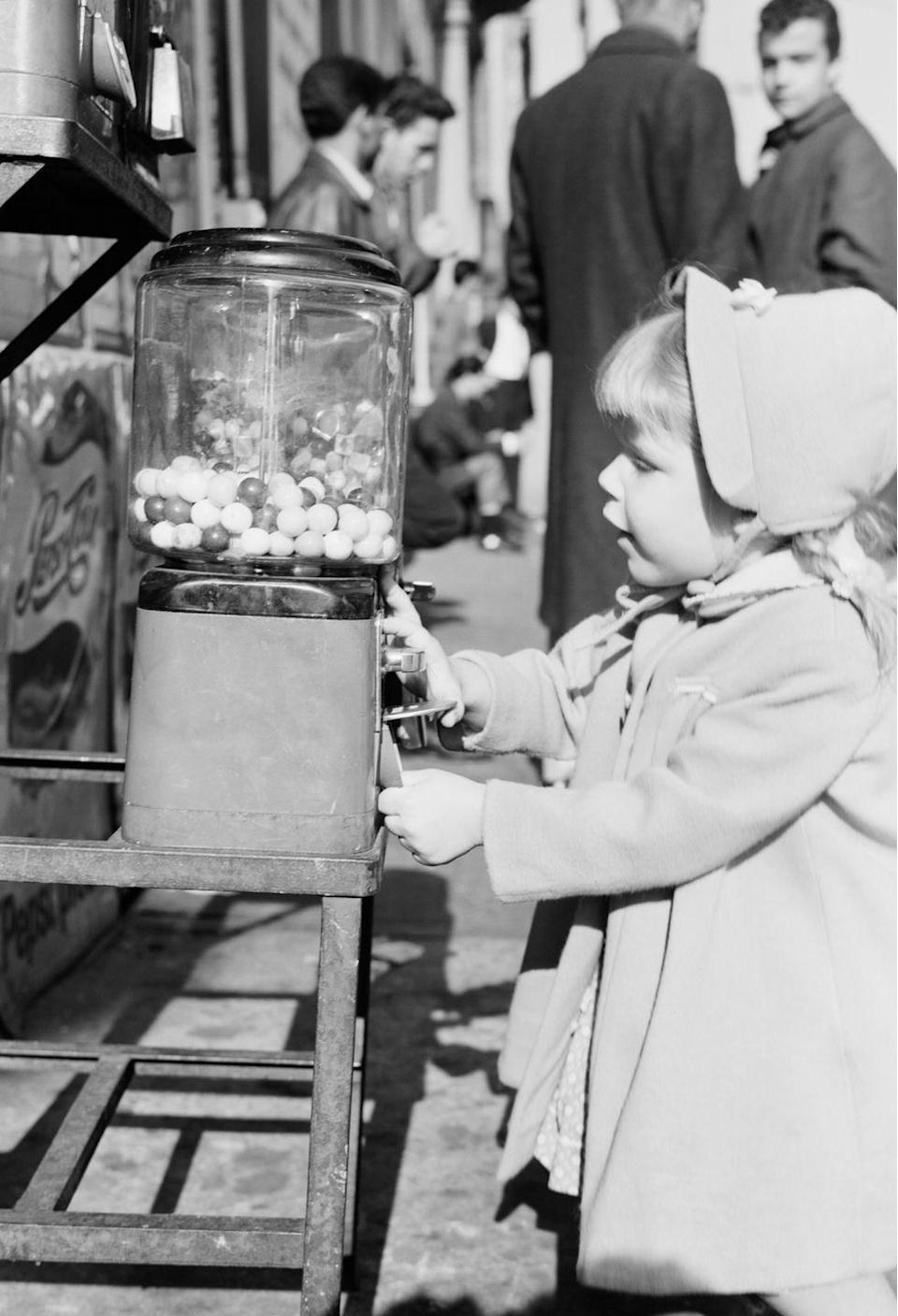 <p>Sugary gum and candy were a '60s childhood staple. And blowing bubbles so big they break over your nose was a big thing. Sometimes kids had bubble blowing contests. The bubble would break and you'd start on a new piece. Gum was not allowed in school but you'd sneak it in anyway, and if you brought enough for other kids you'd make new friends for life. Cavities ensued!<br></p>