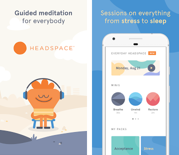 <p>This app is a good introduction to meditation and mindfulness, and ranks high with most users, who love its simplicity. Headspace has guided meditations that help you unwind, manage emotions, and find your mental equilibrium. The 10-minutes sessions are a great way to create an ocean of calm to help you grapple with everyday stress, anxiety, and it's various cousins.<br />Available on the iOS App Store and Google Play. </p>