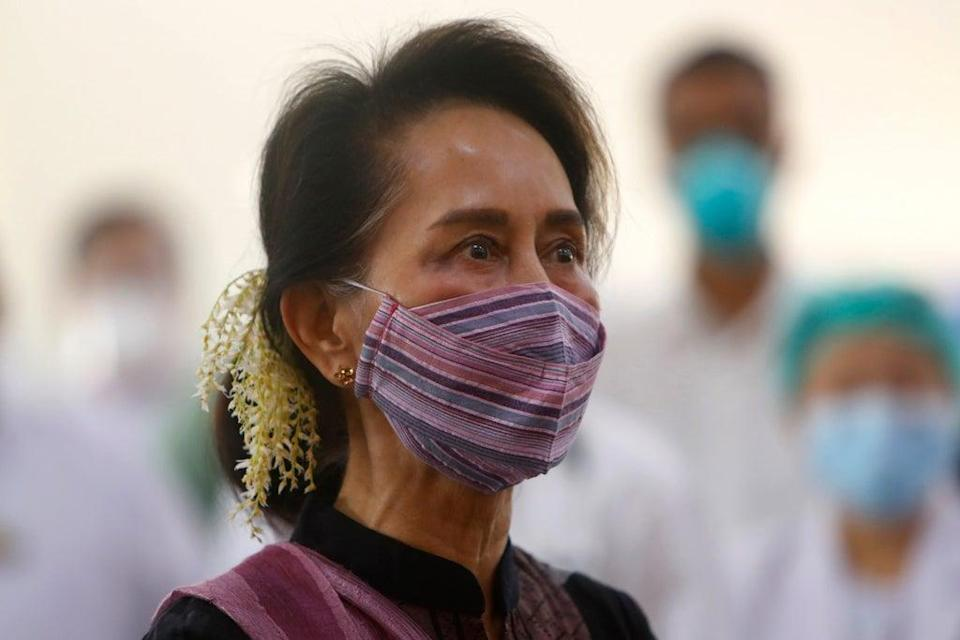 Myanmar Suu Kyi (Copyright 2021 The Associated Press. All rights reserved.)