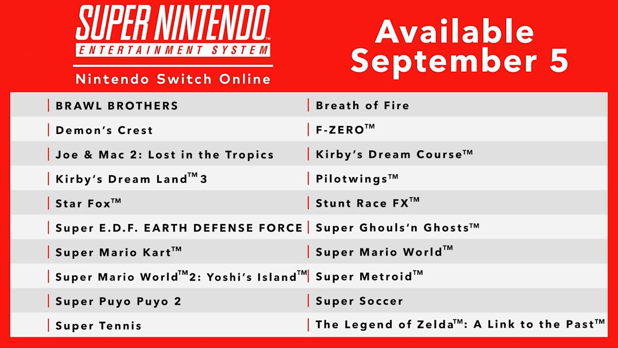 Nintendo Switch Online is finally getting SNES games – here