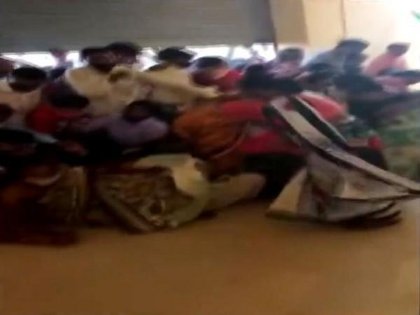 Visuals from the vaccination centre in Madhya Pradesh. (Photo/ANI)