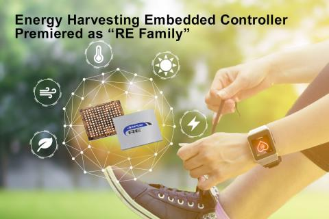 Renesas Premieres RE Family for Its SOTB™ Process-Based Energy Harvesting Embedded Controller Portfolio