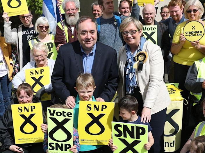Alex Salmond and Joanna Cherry campaigning together in 2017PA