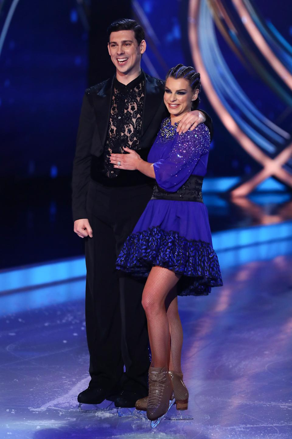 Editorial use only  Mandatory Credit: Photo by Matt Frost/ITV/Shutterstock (11747857z)  Matt Richardson and Vicky Ogden  'Dancing On Ice' TV show, Series 13, Episode 4, Hertfordshire, UK - 07 Feb 2021