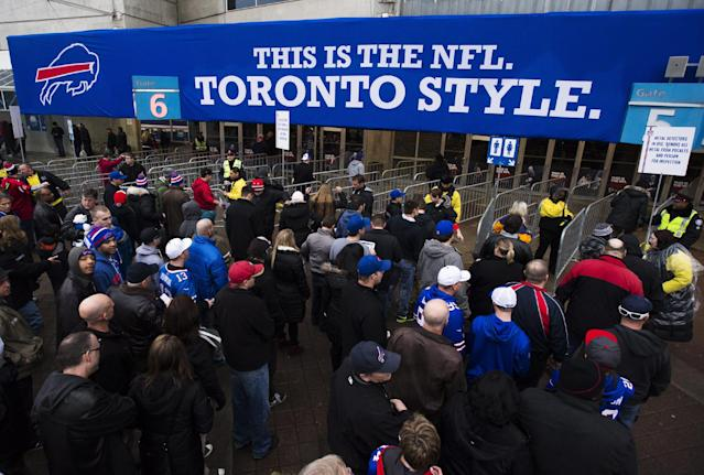 The Bills won't play in Toronto in at least 2014, and that may not be great news for the CFL