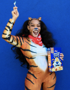 """<p>Frosted Flakes... they're Gr-r-reat... and so is this Tony the Tiger costume. Throw on a comfy tiger-printed onesie and a bandana, then grab a box of the good stuff. </p><p><a class=""""link rapid-noclick-resp"""" href=""""https://www.amazon.com/FunCos-Unisex-Costume-Cosplay-Pajamas/dp/B072JK3LJD?tag=syn-yahoo-20&ascsubtag=%5Bartid%7C10072.g.37059504%5Bsrc%7Cyahoo-us"""" rel=""""nofollow noopener"""" target=""""_blank"""" data-ylk=""""slk:SHOP ONESIE"""">SHOP ONESIE</a></p>"""